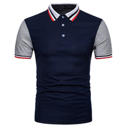 casuais moda vestidos mangas Desconto Nova moda tamanho europeu Mens Designer xadrez camisas manga curta gola mandarim Mens camisas de vestido Casual Mens vestuário