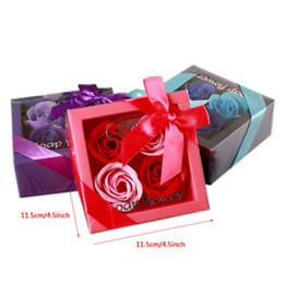 rosas artificiais dia dos namorados Desconto Sabonete Flor Criativo de Alta Qualidade Caixa Embalada Artificial Rosas Românticas do Dia Dos Namorados Presente de Casamento Do Aniversário Flores DH1282