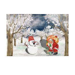 Canada Tapis de bain de Noël Tapis de bain Bonhomme de neige et Père Noël à Dreamwoods Tapis de porte intérieur pour plancher antidérapant supplier christmas door mats Offre