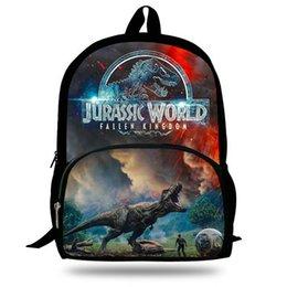 mochila chica popular Rebajas Mochila de impresión animal popular de 16 pulgadas para niños Jurassic World Fallen Kingdom Bolsas para niñas, niños, niños, escuelas