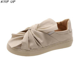 Женская плоская рабочая обувь онлайн-Women Shoes New Fashion Flats Shoes Casual Bow Ladies Loafers Chaussures Femme Work Office Zapatillas Mujer Woman