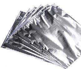 po sacs en plastique zip lock Promotion Paquet de serrure de zip de PE met en sac le papier d'aluminium sacs de fermeture éclair transparents