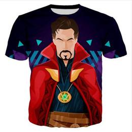 Argentina Estilo de verano Hombres / mujeres Camiseta de manga corta Doctor Strange 3D Impresión digital Camisetas para camisetas Camisas Loose Casual Camisetas Tops Suministro