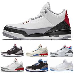 2019 деревянная обувь 3 3s США Джорджтаун Hoyas PE чистый белый человек из леса Катрина мужчины ретро баскетбол обувь Мужские спортивные кроссовки обувь дешево деревянная обувь