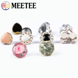 2020 cufflink diy Meetee 10mm-15mm Botões de Camisa De Plástico Abotoaduras DIY Saco de Roupas Casaco de Artesanato de Costura Decoração Acessórios Fivelas BD324 desconto cufflink diy