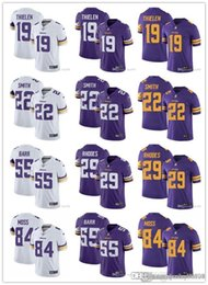 Minnesota Uomini Vichingo 84 Randy Moss 55 Anthony Barr 29 Xavier Rodi 22 Harrison Smith 19 Adam Thielen calcio pullover su ordinazione Rush Viola da notre dame fighting irish jersey fornitori