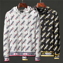 longitud ocasional de la chaqueta de la chaqueta Rebajas De calidad superior otoño invierno popular de los hombres longitud de la chaqueta de manga sudaderas con capucha sudaderas imprimir FF Eyes con capucha con capucha para hombre Jersey Jersey 92O 6813