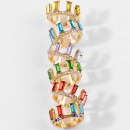 DIEZI Многоцветный Богемский Металл Кристалл Кольцо Для Свадьбы Обручальное Радуга Новое Прибытие Кольцо для Женщин Девушки Ювелирные Изделия от