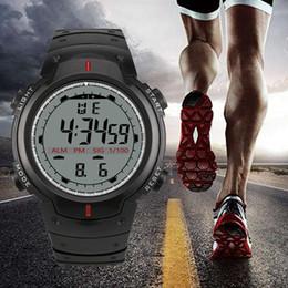 аналоговые цифровые роскошные часы Скидка Men's Sport Smart Watch  Men Analog Digital  Army Sport LED Waterproof Digital Wrist Watch Smartwatch horloges
