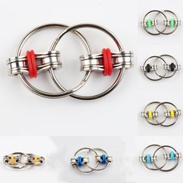 fidget rings toys adhd Promo Codes - 1PC Children's toy Chain Fidget Toy Hand Spinner Key Ring Sensory Toys Stress Relieve ADHD Top