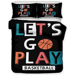 2019 basketball bettwäsche 3D Basketball Bettwäsche Set Sport Thema Basketball Druck Bettbezug Kühlen Kissenbezug für Jungen Männer Kreatives Geschenk günstig basketball bettwäsche