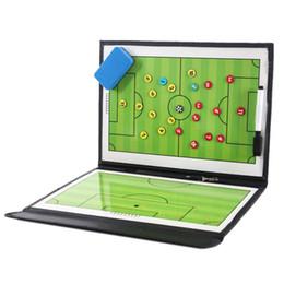 juntas de ferro Desconto Treinador portátil Equipamentos Assisitant Futebol Futebol Tactical Board 2.5 Dobre Couro Útil Placa de Ensino
