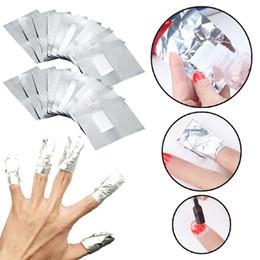 Polnische wischtücher online-Aluminium-Folien-Nagel-Kunst-Entferner tränken weg von Acryl-Gel-Polnisch-Nagel-Removal Wraps Remover-Maniküre-Werkzeug HHA242