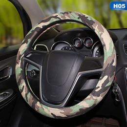 2019 câble assy Universel bricolage camouflage couverture de volant de voiture fit pour la plupart des couvertures auto antidérapantes durables voiture style