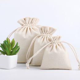 pequeñas bolsas de regalos de tela Rebajas Bolsa de la compra de algodón de lino de almacenamiento del paquete bolsas de cordón bolso de la moneda Pequeño recorrido del monedero de las mujeres paño bolsa del regalo