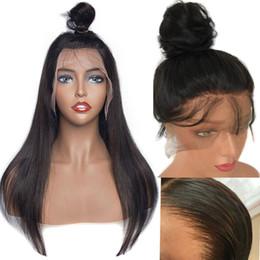 2019 long front de dentelle Perruque de cheveux humains droite avant de lacet perruques 10
