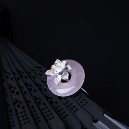 2019 anneaux de bites Vintage 925 Sterling Silver Cock Rings Rose Vert Jade Femelle Anneaux Set Bague pour les Femmes Filles De Mariage Creative Bijoux anneaux de bites pas cher