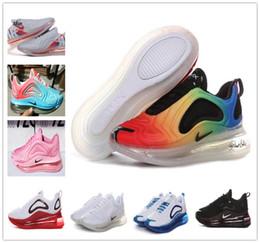 2019 zapatillas mujer logo 2019nbspNike Air nbspMax 720 zapatos para correr de hombre mujer Rainbow color big air logo zapatos para caminar max 72c correr al aire libre zapatillas de deporte tamaño 36-45