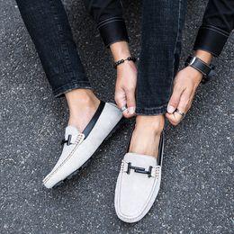 хорошая новая обувь Скидка новая мода мужская обувь повседневная кожа замша мокасины мужской Хороший удобный скольжения на обуви человек большой размер вождения обувь для мужчин 7dge