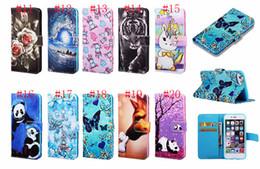 Deutschland 20 designs flip wallet leder schmetterling einhorn panda tiger stehen mandala abdeckung case für iphone xr xs max x 8 7 6 s samsung s10 plus s10e cheap wallet panda Versorgung