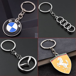 2019 toyota corolla key fob 2 Peças de Moda Chaveiro De Metal Do Carro Chaveiro Para BMW Auto Chaveiro Car-styling Chave Anel Automotivo Keyfob Pingente para o Presente Acessórios Do Carro