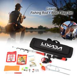 2019 giro completo Lixada Conjunto Vareta De Pesca Completa Kit Spinning Fishing Reel Iscas Ganchos Saco Kit Kits Conjunto giro completo barato