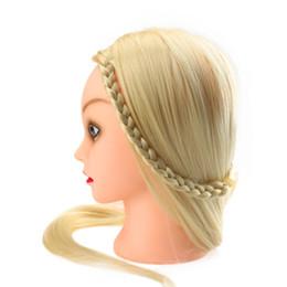 """Canada Professional 27 """"modèle de formation de coiffure de cheveux longs coiffeur blanc Tête de pratique avec pince 100% fibre haute température W2132 Offre"""