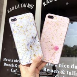 Cajas del teléfono celular de oro online-Glitter Bling Marble Gold Foil Estuche para teléfono celular Paillette Goldleaf Fundas de TPU blandas Contraportada para iphone X XS MAX XR 8 7 6 plus