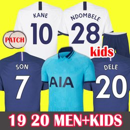 Erkekler + Çocuk Soccer Jersey Tottenham Hotspur Futbol Forması KANE Spurs 2019 2020 LUCAS formaları ERIKSEN DELE SON 19 20 futbol forması NDOMBELE üniformaları üçüncü Setleri cheap soccer jersey shirts nereden futbol mayo gömlekleri tedarikçiler