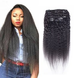Msjoli doğal Renk Saç Uzantıları Klip kinky Düz Brezilyalı Virgin İnsan Remy Saç Toptan Brezilyalı İnsan saç in klip nereden