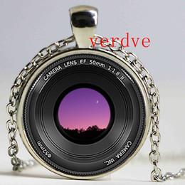 pingente de lente da câmera Desconto Câmera Custom PENDENTE Camera Lens jóias colar de pingente