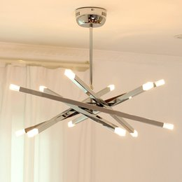 Details about Modern Branch LED Chandelier Metal Ring Heracleum Adjustable Chain Pendant Light