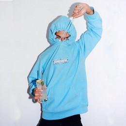 19FW Bandana Box Logo Kapuzen TOP UNHS BOGO Stickerei Fleece Baumwollhoodies Paar Mode Sweatshirts HipHop Skateboard Pullover UNHS118