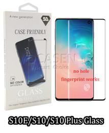Argentina Caja de cristal moderado curvada 3D para Samsung S8 S9 10 Plus Note 9 8 Película protectora de pantalla de versión pequeña con paquete al por menor cheap package films Suministro