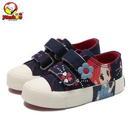 2020 tênis para meninas Meninas Princess Tênis 2019 Nova Primavera Crianças Canvas Sneakers Floral moda infantil Sneakers Denim Casual sapatos baixos para meninas tênis para meninas barato
