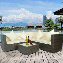 Nuevo jardín de ratán muebles de mimbre al aire libre Conservatorio conjunto de sofá de esquina