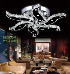 Camas modernas online-FUMAT Nuevo diseño de luces de cristal de lustre moderno para sala de estar habitación iluminación del hogar decoración luces de techo led
