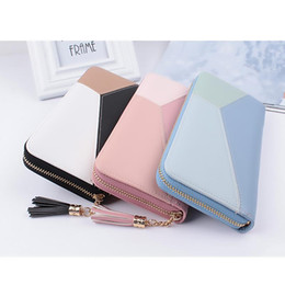 Telefonkasten mädchen design online-2018 Pu Frauen Wallet Best Design Mode Damenhandtasche Girls Best Wallet Female-Kasten-Telefon Tasche Lange Clutch