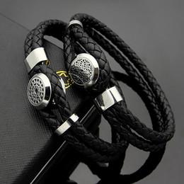 Doubles cordes en Ligne-Bracelet pour homme de grande taille MONT Mesh Marque ronde Boucle Double Bracelet en cuir tressé Hommes