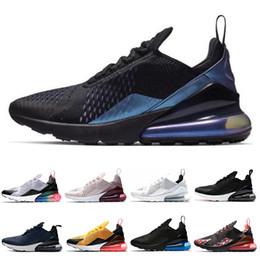 té blanco negro Rebajas Nike air max 270 Triple blanco negro para mujer para hombre zapatillas de deporte de regencia púrpura marino CNY Tiger Tea berry Mujer calzado deportivo zapatillas tamaño 36-45