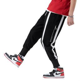 Großhandel Helle Silber Hosen Männer Cool Hip Hop Lässige Jogger Männer Hosen Hohe Qualität Jogginghose Elastische Taille Ankle Hose A5527 Y190509 Von