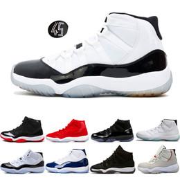 hot sale online 1f180 3b8b7 2019 blaue designer-kleider Designer Turnschuhe Herren Basketball Schuhe 11  11s Concord 45 Cap und