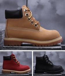 Jungen wandern stiefel online-Marke TBl Big Kid Wareproof Boots für Jungen Outdoor Boot Mädchen Wanderschuhe Kleinkind Boy Trekking Schuh Mädchen Walking Chaussures Kid Jugend Kind