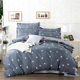 Jacquard azul comforter conjuntos on-line-Azul Rosa Roxo Consolador Conjunto De Cama King Size Flaming capa de edredão Set + roupa de cama plana + Pillowcase37