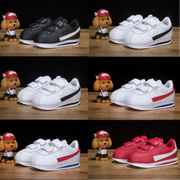 Enfant fille chaussures de marque en Ligne-Nike Nouveau Né Bébé Cortez Enfants Chaussures De Course En Cuir Noir Blanc Rouge Enfants Enfant Baskets Casual garçon fille Designer baskets td Infant