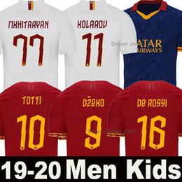 camisa totti Rebajas 19 20 Camiseta de fútbol AS Roma 2019 2020 TOTTI DZEKO DE ROSSI PEROTTI equipo de Roma campeones football shirt ZANIOLO PELLEGRINI camisa de fútbol MANOLAS KLUIVERT maillot de foot