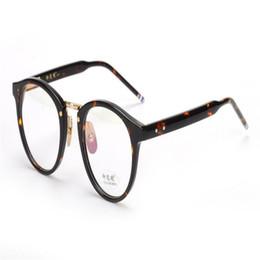 88e9a56265 MONGOTEN Retro Unisex Fashion Full Rim Acetate Clear Lens Myopia Eyewear  Frame Black Leopard Goggle Vintage Eyeglasses Spectacle
