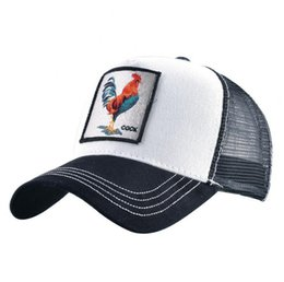 hot cock men Promo Codes - Hot Fashion Baseball Hats Summer Visor Mesh Caps Unisex Embroidered Animals Cock Hat Men Women Adjustable Ball Cap Couple Gift