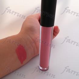Brilho labial 24 cores on-line-Batom líquido verdadeiramente fosco hot vender lip gloss não-copo-vara 18 cor no logotipo design aceitar private label impressão 24 horas duradoura
