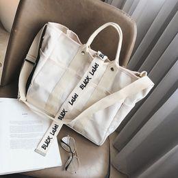 bolsas de cor preta Desconto Bolsas de lona Mulheres Homens Sacos De Compras Reutilizáveis Saco De Compras Cor preto branco Bags2019 nova bolsa de ombro bolsaMelhor venda